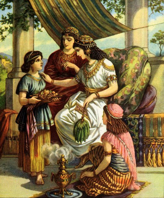 Servant Girl Tells Naaman's Wife About the Prophet II KIngs 5:2-3