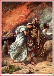 Lot & Daughters Flee Sodom