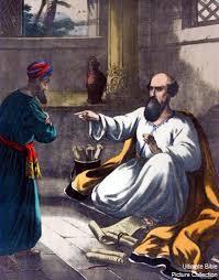 Elisha rejecting Gehazi
