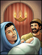 Jochebed-and-Amram-with-baby-Moses