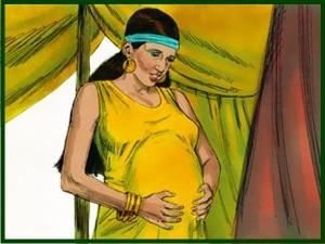 Pregnant Rebekah